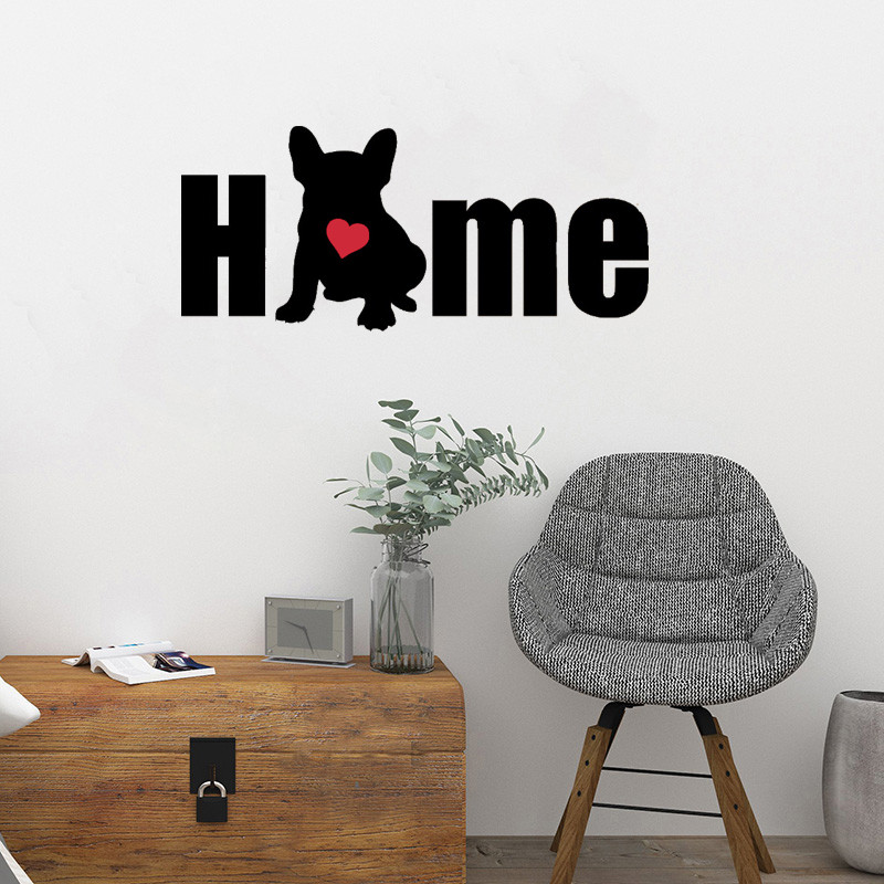 French Bulldog Wall Art Decal Home Decor Stickers amovible Stickers Vinyle