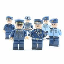 Фотография 6PCS Custom Land&Sea Navy Soldiers Action Figures,DIY Toys Set for Children,Assembling Toys Wholesale and Dropship