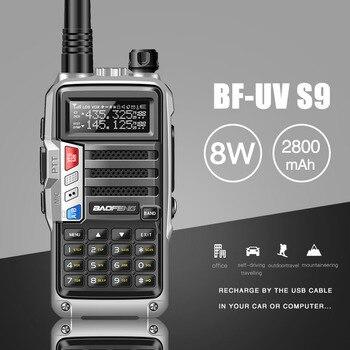 2020 BaoFeng UV-S9 قوية اسلكية تخاطب CB جهاز الإرسال والاستقبال اللاسلكي 8 واط 10 كجم طويلة المدى راديو محمول ل هانت الغابات مدينة ترقية 5r