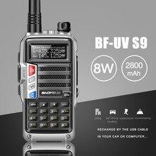 2020 BaoFeng UV S9 Poderosa Walkie Talkie CB Rádio Transceptor 8W 10km De Longo Alcance Rádio Portátil para caça floresta cidade de atualização 5r
