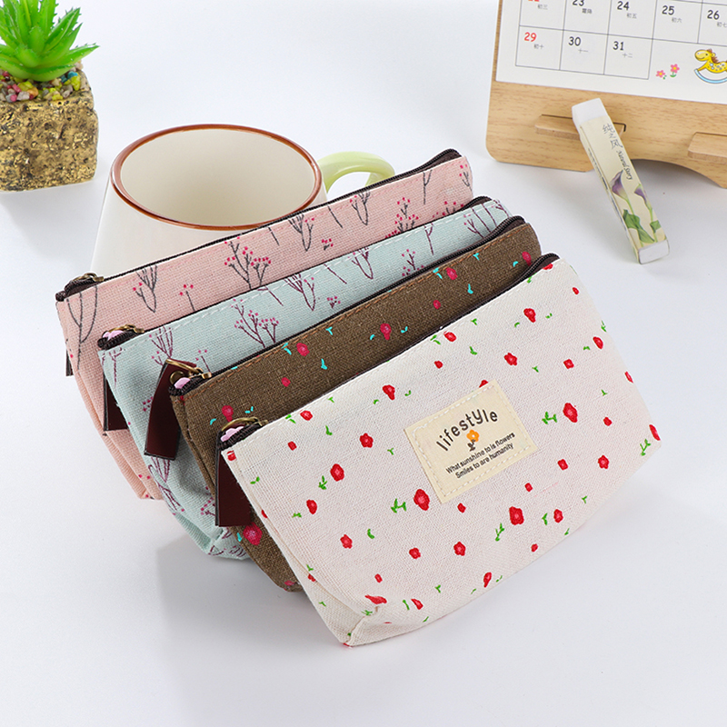Cute Flower School Case Korea School Pencil Case Unusual Pencil Cases For Girls Boys School Supplies