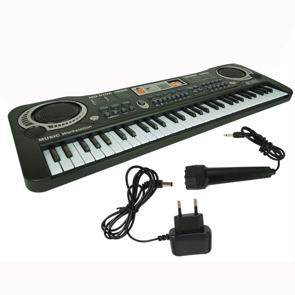 Children Music Toy 61 Keys Digital Music Piano Electronic Keyboard Key Board quality Plastic Music instrument For Education цена