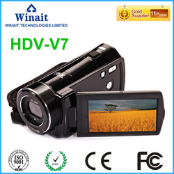 Winait 16X digital zoom digital video camera with 3.0 inch LCD screen LED light anti shake Infrared remote controller