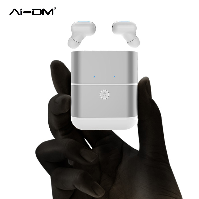AIDM TWS X2 Headphones Bluetooth 4.2 Sports In-ear Earphones Touch Earbuds Wireless Handsets Stereo with Mic+Portable Power Bank