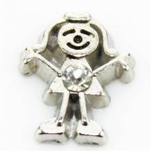 hot selling 10PCS little girls april birthstone floating charms for glass floating lockets