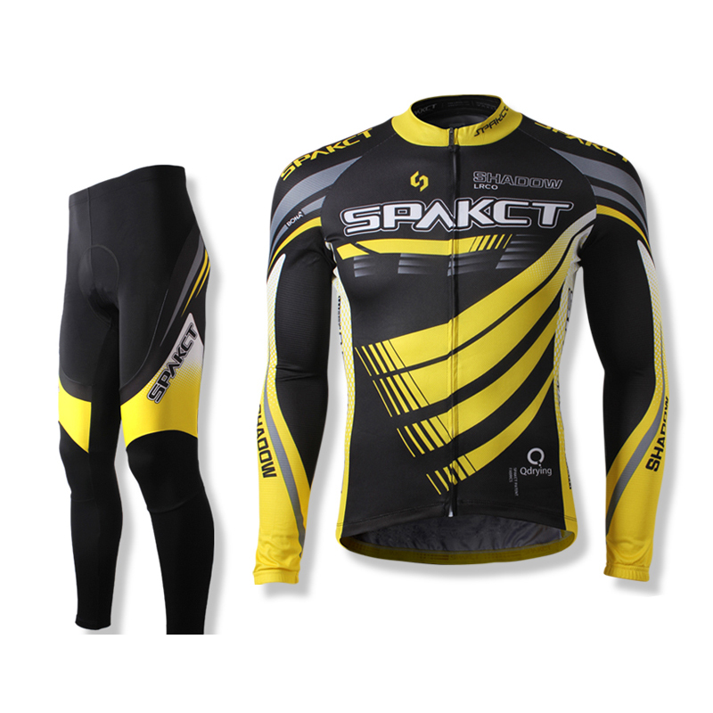 Spaket Cycling Jersey Sets Mens Bike Riding MTB Short Sleeve Long Sleeve Cycling Suits Reflective Breathable Cycling Clothing