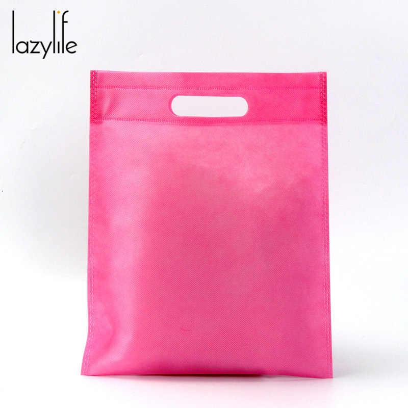 LAZYLIFE 50 peças/lote saco não tecido saco de compras para a promoção/Presente/sapatos/Chrismas