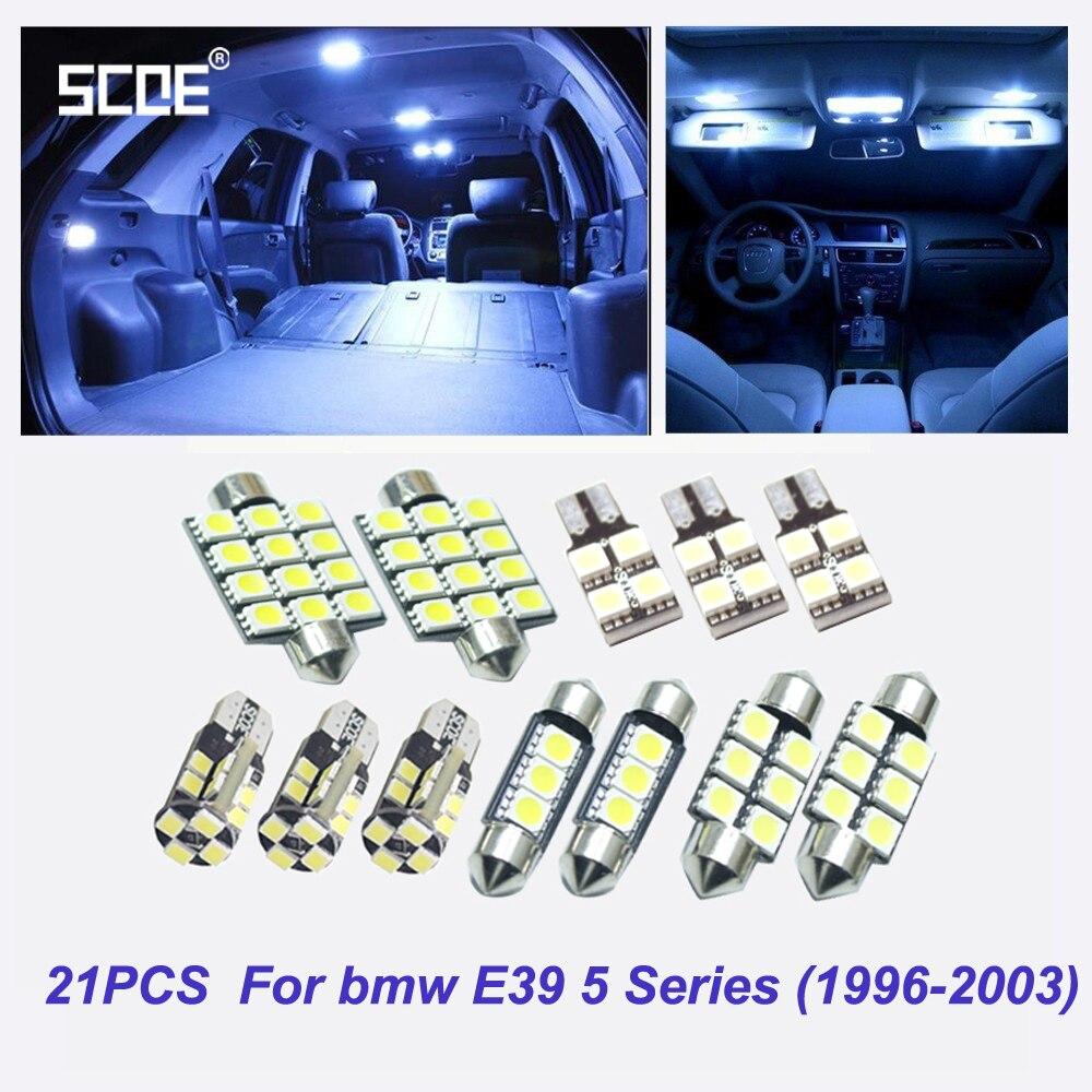 SCOE 21 pcs x LED Interior Package Dome Light Reading Light Kit For bmw E39 5 Series 525i 528i 530i 540i M5 Sedan(1996-2003) источник света для авто eco fri led 18 x bmw e39 5 525i 528i 530i 540i m5 1996 2003 canbus