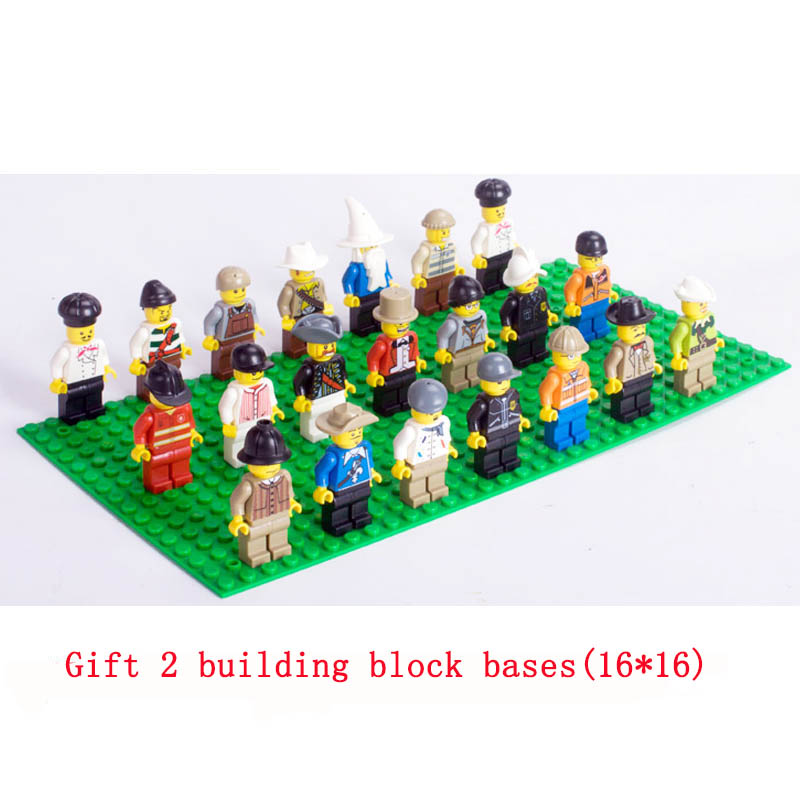 Lepin Pogo 20pcs/lot All Occupations Workers Jobs Building Blocks Bricks Action Figures Gifts for Children Compatible Legoe Toys паяльник bao workers in taiwan pd 372 25mm