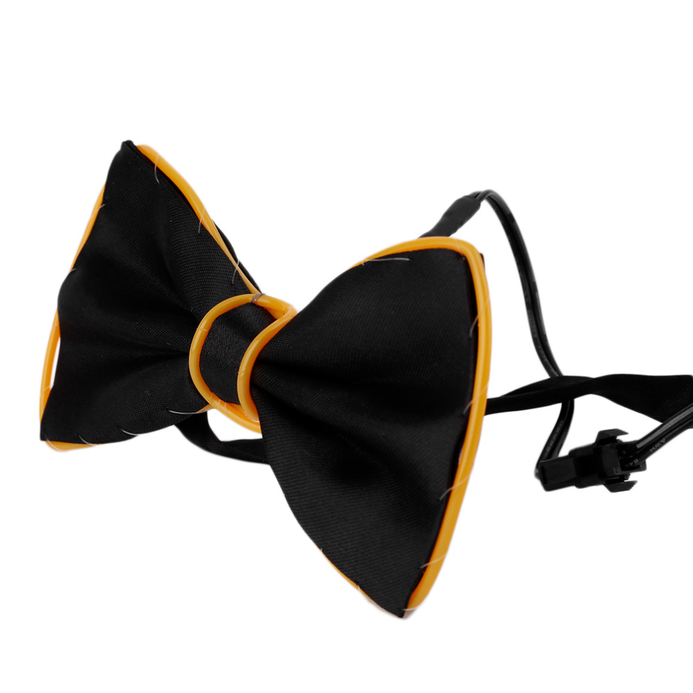 Candid 3 Colors Fashion Led Bow Tie Glowing El Wire Bow Tie Cravat For Evening Party Dj Bar Club Or Show Decoration Bow Tie Cleaning The Oral Cavity.