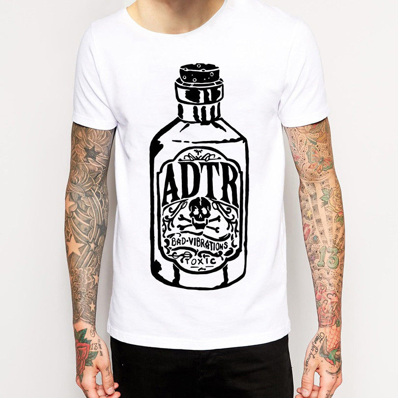 Tee Shirt Hipster Harajuku Brand Clothing T Shirt A Day To Remember T Shirt New Merchandise (Pop Punk/Post Hardcore) O-Neck Shor
