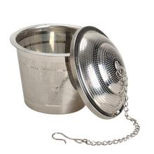 Dia 4.5cm Tea Infuser Stainless Steel Herbal Ball Reusable Spice Strainer Locking Tea Filter Kitchen Gadgets YH-459811 купить дешево онлайн