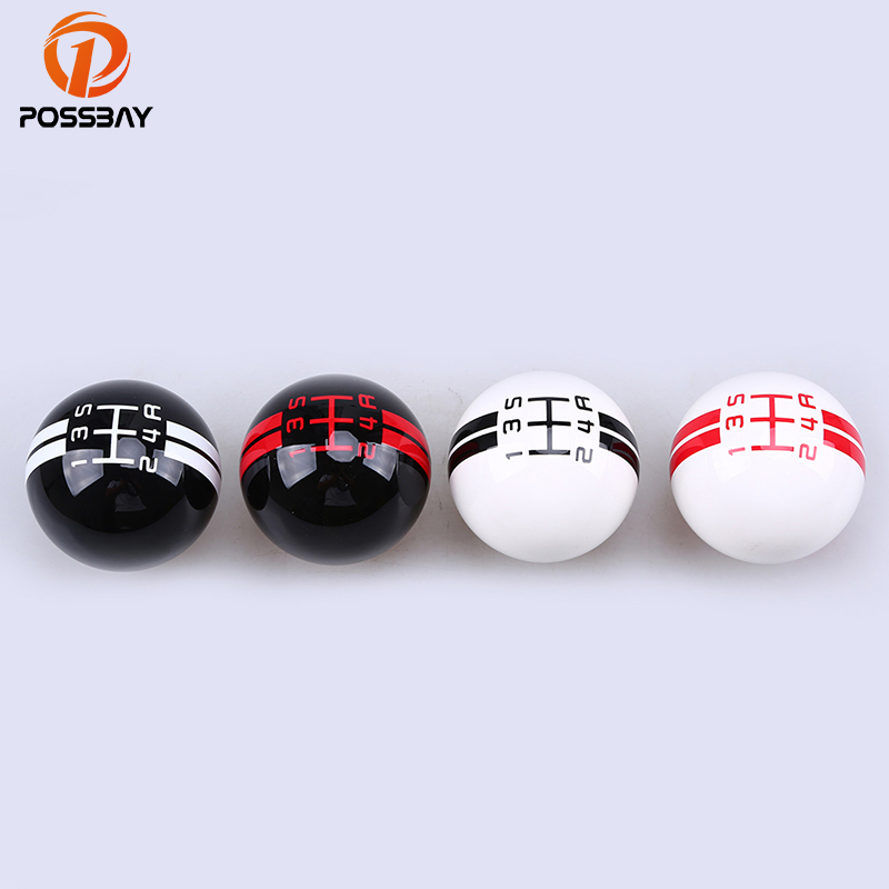 цена на POSSBAY Resin Craft Shift Knob Round Ball Car Gear Shift Knob 5/6 Speed Shift Gear Knobs Universal Maunal Shifter Lever Knob
