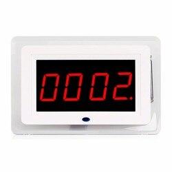 433MHz Wireless Kellner Krankenschwester Anruf Paging-System Empfänger Host Für Restaurant Ausrüstung Cafe Büro Mit Stimme Broadcast F3259B