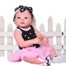 23 Pulgadas Renacer Bebés De Silicona Llena De Muñecas de Vinilo Bebé Vivo Princesa de La Muchacha de las muñecas Realistas Con Pelo Kid Mejor regalo de Cumpleaños de Navidad regalo