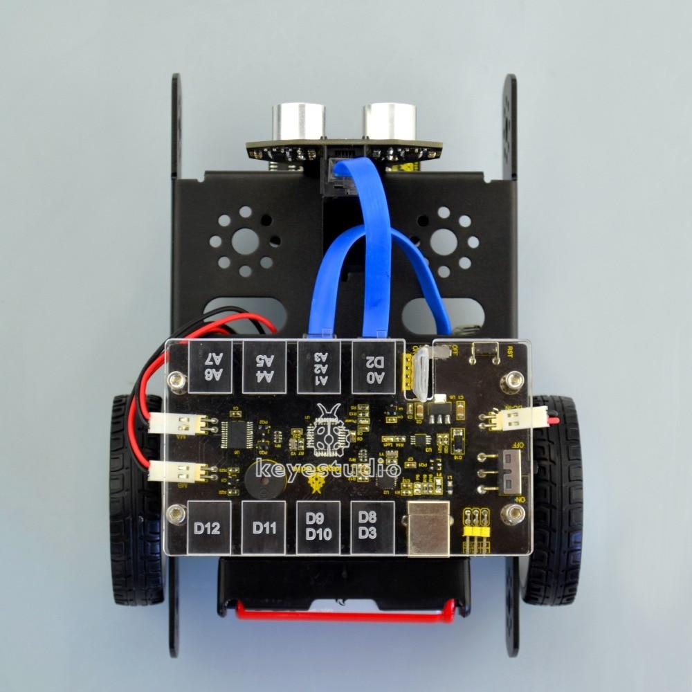 Keyestudio KEYBOT Programmable Education Robot Car Kit + User Manual For Arduino  Graphical Programming