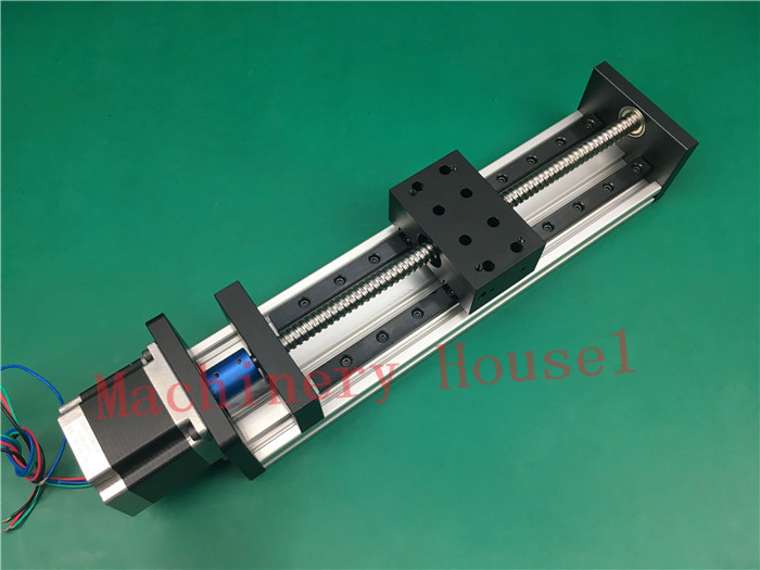 High Precision GX80*50mm Ballscrew 1204 1700mm Effective Travel+Nema 23 Stepper Motor Stage Linear Motion single block su gx 5s r