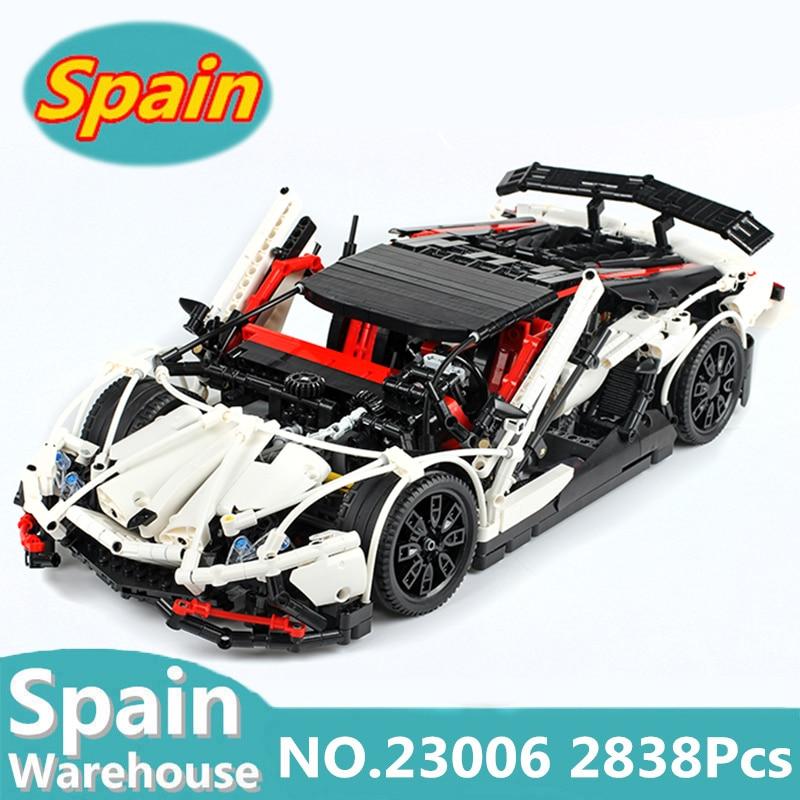 23006 23002 Technic MOC Car Racing Car Hatchback Type Building Blocks City MOC 4789 Toys For