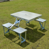 Металлическая уличная мебель садовые наборы портативный алюминиевый складной стол для пикника