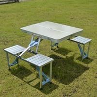 Metal Outdoor Furniture Garden Sets Portable Aluminium Fold Picnic DeskHot Sale Occasional Table