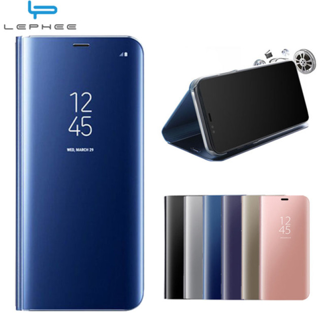 huge discount ecb6f 9e902 US $4.54 9% OFF|For Samsung Galaxy S9 Case Galaxy S9 Plus Flip Cover Luxury  Mirror Stand Smart Phone Cover For Samsung S6 S7Edge Note8 S8 S8Plus-in ...