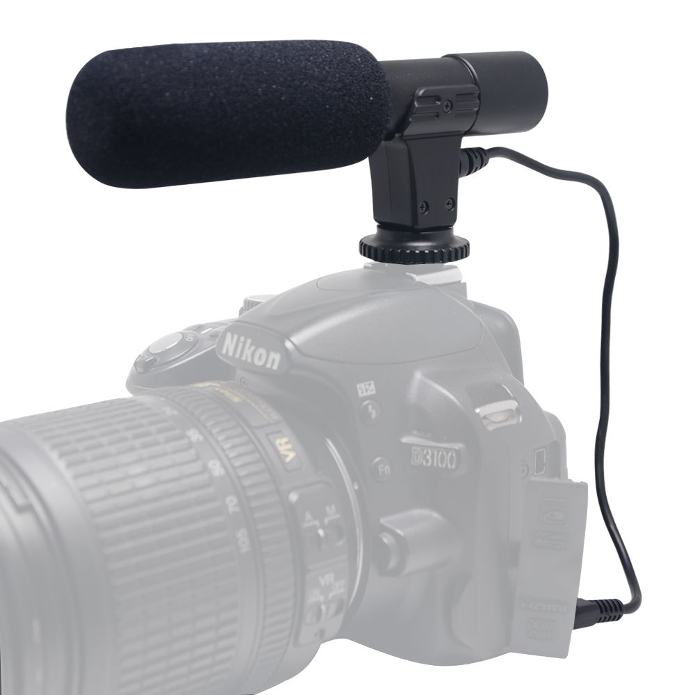 Mcoplus Mic 01 Digital Video Dv Camera Professional Studio stereo Recording Microphone for Canon Nikon Pentax