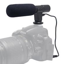Mic-01 mcoplus cámara de vídeo digital dv profesional estudio/grabación de micrófono estéreo para canon nikon pentax olympus panasonic