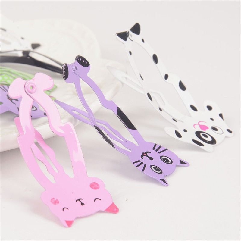 HTB1bmfeQXXXXXbkaXXXq6xXFXXX7 Cute 6-Pieces Dog Cat Bunny Hair Snap Clip Set For Women/Children