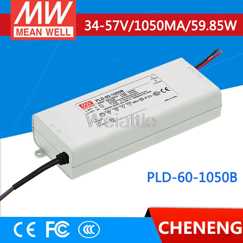 MEAN WELL original PLD-60-1050B 57V 1050mA meanwell PLD-60 57V 59.85W Single Output LED Switching Power Supply pld 1201 pld 1202 pld 1203 pld 1204 pld 1205 pld 1206 pld 2201 pld 2202 pld 2203 dc 12v dc 24v mini water small pump