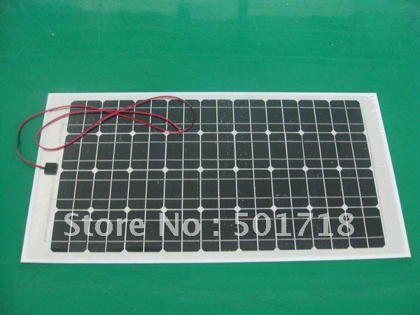80W/18V Monocrystalline Flexible Solar Panel