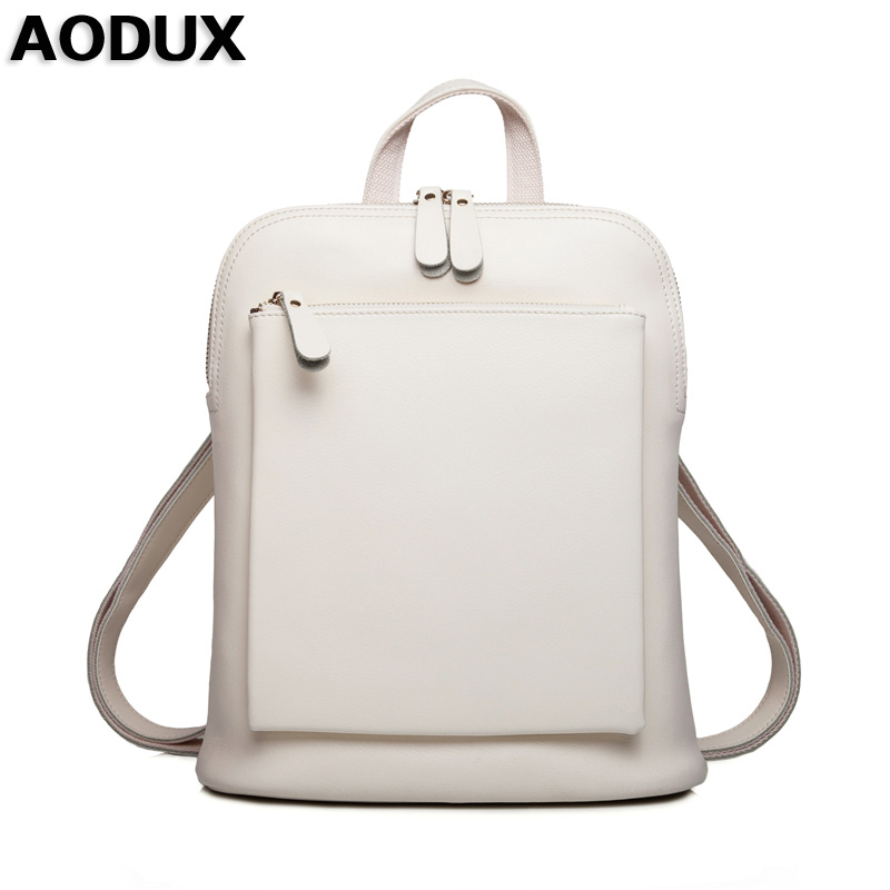 AODUX Hot Backpacks Fashion High Quality Second Layer Cow Leather Backpack Women Female Genuine Leather Backpack Cowhide Bags genuine leather backpack for women real natural cowhide female backpacks fashion street cowhide bags girlfriend s birthday gift