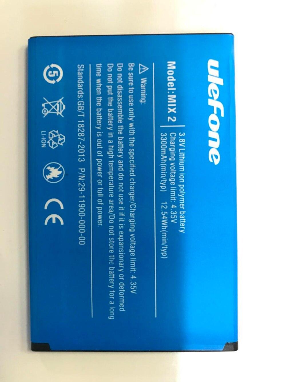 New Original Ulefone MIX2 Replacement 3300mAh Parts backup battery for MIX 2 MTK6737 Smart Phone