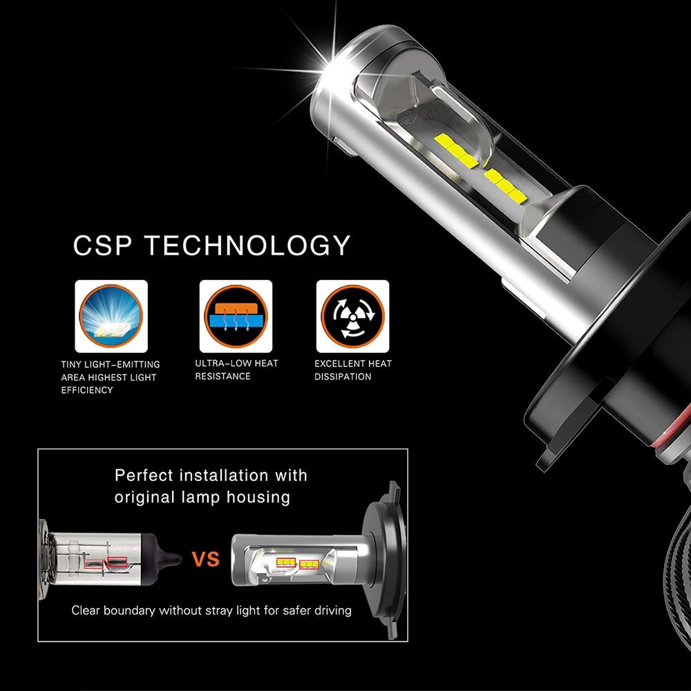 MyHung LED Headlight Bulb H4 9004 9007 Hi-Lo Beam S1 Lampu Mobil 50 W - Lampu mobil - Foto 2