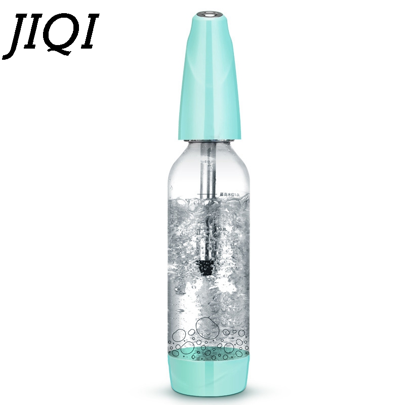 JIQI Portable Siphon manual Bubble Water sodas Machine mini Carbonated soft Drink travelling Portable Juice Maker Wine Spritzers