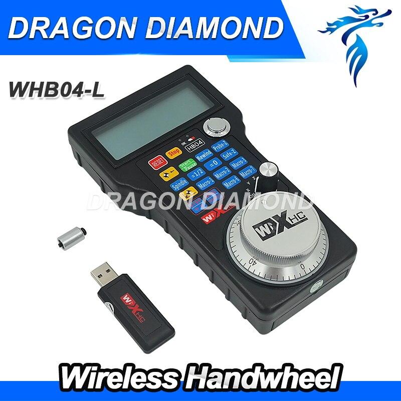 все цены на best sale 2017 Version Wireless Electronic Handwheel HB04 MPG USB Mach3 for CNC Router Machine онлайн