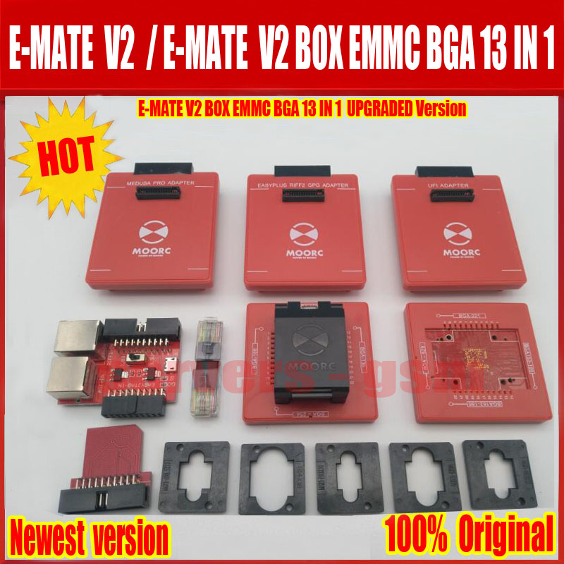 2018 New E-MATE V2 box Emate box pro upgrade to 13 IN 1 Support Bga 153,169,162,221,529,100,136,254 for ufi ,riff ,easyj-tag ,me2018 New E-MATE V2 box Emate box pro upgrade to 13 IN 1 Support Bga 153,169,162,221,529,100,136,254 for ufi ,riff ,easyj-tag ,me
