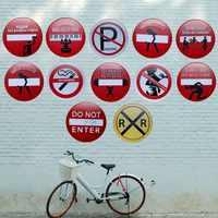 Usted puede mirar pero no toque los signos irregulares de Metal Tabla de publicidad de la pintura de hierro pared Pub café decoración del arte del hogar 30CM U-7