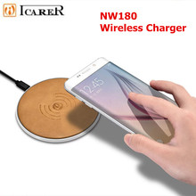 iCarer Wireless Charger for iPhone 8 Genuine Leather Wireless Charger Power Back For Samsung S8 Plus S8 For iPhone X Power Bank