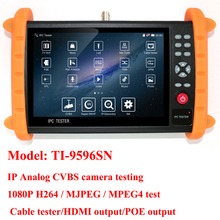 7 inch 1280x 800 decision CCTV tester monitor analog CVBS IP digital camera tester with RJ45 cable tester ,cable tracer