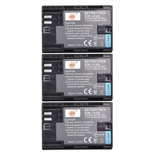 DSTE 3PCS 2600 mAh LP-E6 LP E6 LP-E6N lp e6n Battery for Canon EOS 6D 7D 5DS 5DSR 5D Mark II 5D Mark III  IV 60D 60Da 70D 80D