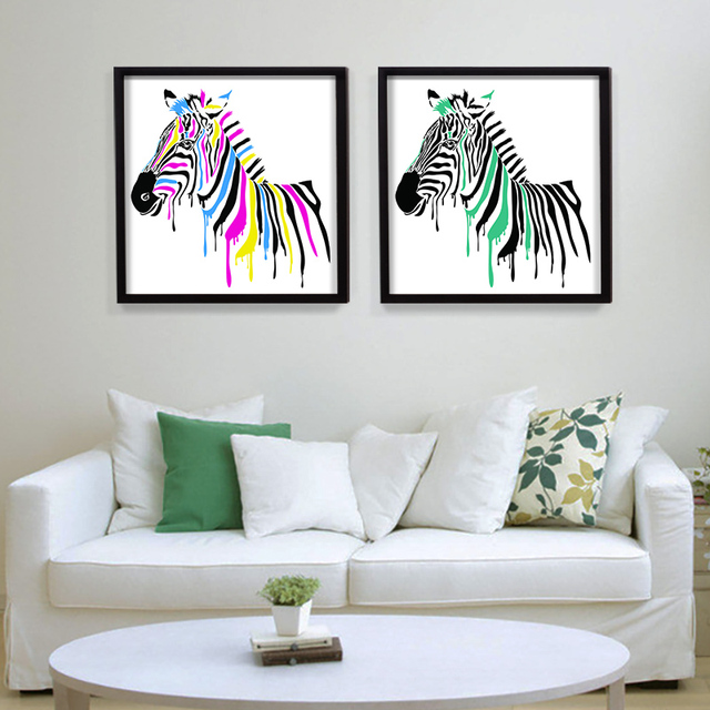 Africa Animal Canvas Painting Modern Pop Wall Pictures Wall Art For Reading  Room Zebra Home Decor
