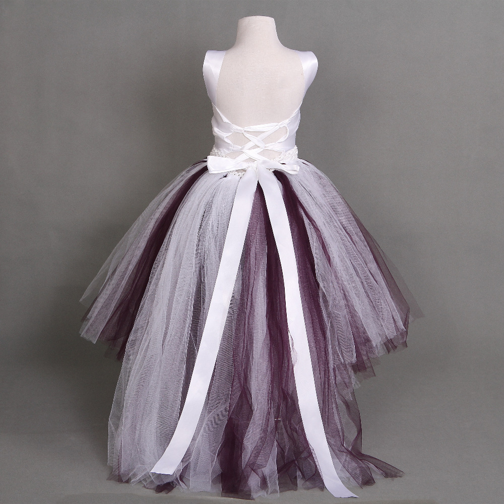 Flower Girl Dress Amazing Fluffy 3 Layer With Ivory Satin Top Mix