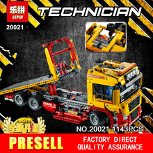 New LEPIN 20021 technic series 1143pcs Flatbed trailer Model Building blocks Bricks Compatible Toy Gift 8190