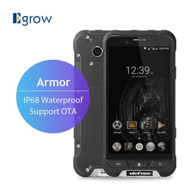 Original Ulefone Armor MTK6753 Octa Core Android 6.0 Mobile Phone 4.7 Inch 3G RAM 32G ROM Waterproof IP68 Rugged Smartphone