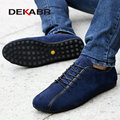 DEKABR Nubuck Leather Men Shoes Spring Male Casual Shoes Newest 2017 Fashion Leather Shoes Loafers Men's Shoes Flats Zapatillas