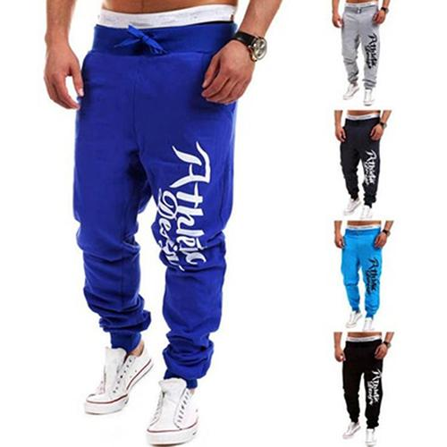Fashion Men Letter Print Loose Casual Hip-Hop Sports Jogging Sweatpants Trousers