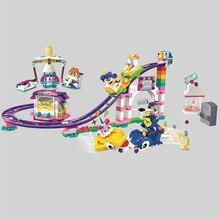 Бела большой фильм Мультфильм Unikitty Cat Unikingdom Fairground Fun Box Building Block кирпичи игрушечные лошадки Совместимость Legoings друзей 41456