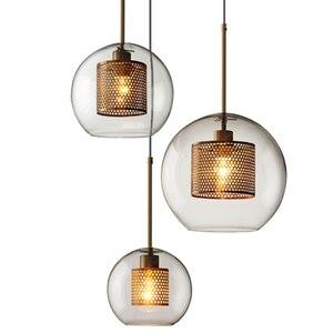 Image 5 - Postmodernistyczna nordycka szklana bańka wisiorek led światła do jadalni kuchnia restauracja lampa wisząca oprawa