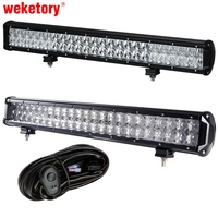 Weketory 5D 24 Inch 240W 4D LED Work Light Bar For Tractor Boat OffRoad 4WD 4x4