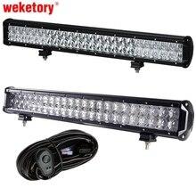 weketory 4D 5D 22 inch 240W LED Work Light Bar for Tractor Boat OffRoad 4WD 4×4 Truck SUV ATV Spot Flood Combo Beam 12V 24v